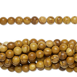 "Bead, tigerskin ""jasper"" (natural), 4mm round, C grade, Mohs hardness 4 to 5. Sold per pkg of (10) 16-inch strands."