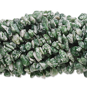 Bead, tree agate (natural), medium chip, Mohs hardness 6-1/2 to 7. Sold per pkg of (10) 36-inch strands.