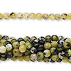 "Bead, yellow ""turquoise"" (natural), 4mm round, C grade, Mohs hardness 2-1/2 to 6. Sold per pkg of (10) 16-inch strands."