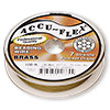 Beading wire, Accu-Flex®, 100% brass, 7 strand, 0.012-inch diameter. Sold per 100-foot spool.