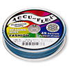 Beading wire, Accu-Flex®, Crater Lake blue, 49 strand, 0.024-inch diameter. Sold per 100-foot spool.