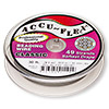Beading wire, Accu-Flex®, clear, 49 strand, 0.012-inch diameter. Sold per 30-foot spool.