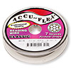 Beading wire, Accu-Flex®, clear, 7 strand, 0.014-inch diameter. Sold per 30-foot spool.