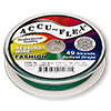 Beading wire, Accu-Flex®, forest green, 49 strand, 0.014-inch diameter. Sold per 100-foot spool.