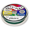 Beading wire, Accu-Flex®, forest green, 49 strand, 0.019-inch diameter. Sold per 100-foot spool.