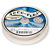 Beading wire, Accu-Flex®, high tension, silver-plated, 7 strand, 0.0083-inch diameter. Sold per 30-foot spool.