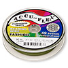 Beading wire, Accu-Flex®, khaki, 49 strand, 0.024-inch diameter. Sold per 30-foot spool.