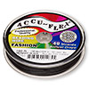 Beading wire, Accu-Flex®, midnight black, 49 strand, 0.024-inch diameter. Sold per 100-foot spool.