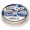 Beading wire, Accu-Flex®, nylon and .925 sterling silver, clear, 7 strand, 0.019-inch diameter. Sold per 100-foot spool.