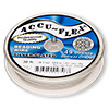 Beading wire, Accu-Flex®, nylon and silver-plated stainless steel, clear, 49 strand, 0.024-inch diameter. Sold per 30-foot spool.