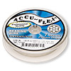 Beading wire, Accu-Flex®, nylon and silver-plated stainless steel, clear, 7 strand, 0.0083-inch diameter. Sold per 100-foot spool.