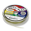 Beading wire, Accu-Flex®, nylon and stainless steel, olive green, 49 strand, 0.024-inch diameter. Sold per 30-foot spool.