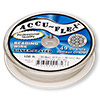 Beading wire, Accu-Flex®, silver-plated, 49 strand, 0.014-inch diameter. Sold per 100-foot spool.