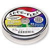 Beading wire, Accu-Flex®, stormy blue, 49 strand, 0.019-inch diameter. Sold per 30-foot spool.