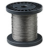 Beading wire, Tigertail™, nylon-coated stainless steel, clear, 7 strand, 0.012-inch diameter. Sold per 100-foot spool.