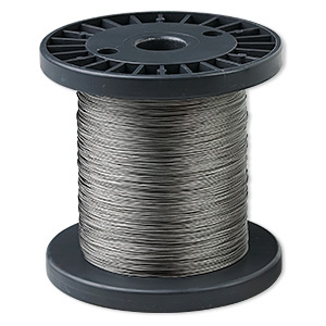 Beading wire, Tigertail™, nylon-coated stainless steel, clear, 7 strand, 0.012-inch diameter. Sold per 300-foot spool.