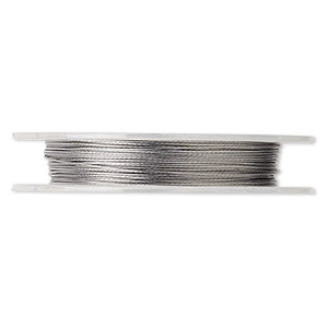 Beading wire, Tigertail™, nylon-coated stainless steel, clear, 7 strand, 0.015-inch diameter. Sold per 30-foot spool.