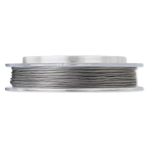 Beading wire, Tigertail™, nylon-coated stainless steel, clear, 7 strand, 0.026-inch diameter. Sold per 100-foot spool.