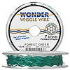 Beading wire, Wonder Wiggle Wire®, stainless steel and nylon, forest green, 0.02-inch diameter. Sold per 15-foot spool.