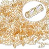 Bugle bead, Dyna-Mites™, glass, transparent rainbow light gold, 6mm twisted. Sold per 1/2 kilogram pkg.