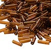 Bugle bead, Dyna-Mites™, glass, transparent root beer, # 3. Sold per pkg of 35 grams.