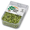 Bugle bead, Ming Tree™, glass, silver-lined lime green, 1/4 inch. Sold per pkg of 1/4 pound.