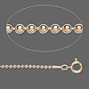 Chain, 12Kt gold-filled, 1.5mm pelline ball, 18 inches with springring clasp. Sold individually.