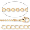 Chain, gold-finished brass, 1.5mm ball, 36 inches with 1-inch extender chain and lobster claw clasp. Sold per pkg of 2.