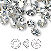 Chaton, Swarovski crystal rhinestone, Crystal Passions®, crystal blue shade, foil back, 8.16-8.41mm faceted Xirius round (1088), SS39. Sold per pkg of 4.