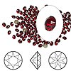 Chaton, Swarovski crystal rhinestone, Crystal Passions®, dark Siam, foil back, 2.7-2.8mm faceted Xirius round (1088), PP21. Sold per pkg of 12.