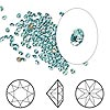 Chaton, Swarovski crystal rhinestone, Crystal Passions®, light turquoise, foil back, 2-2.1mm Xirius round (1088), PP14. Sold per pkg of 12.