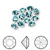 Chaton, Swarovski crystal rhinestone, Crystal Passions®, light turquoise, foil back, 6.14-6.32mm faceted Xirius round (1088), SS29. Sold per pkg of 12.