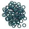 Component, Oh! Ring™, rubber, medium green, 15mm round, 10mm hole. Sold per pkg of 100.