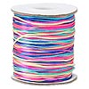 Cord, Satinique™, satin, confetti, 1mm mini. Sold per 210-foot spool.