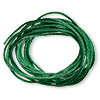 Cord, Satinique™, satin, dark green, 1.5mm small. Sold per 432-foot spool.