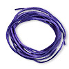 Cord, Satinique™, satin, purple, 1.5mm small. Sold per 432-foot spool.