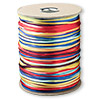 Cord, Satinique™, satin, rainbow, 2mm regular. Sold per 432-foot spool.