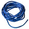 Cord, Satinique™, satin, royal blue, 2mm regular. Sold per pkg of 10 feet.