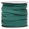 Cord, faux suede lace, green, 10mm. Sold per pkg of 3 yards.