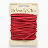Cord, faux suede, red, 3x1mm. Sold per 9-yard card.