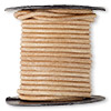 Cord, leather, natural, 2mm. Sold per 25-yard spool.