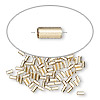 Crimp bead, 14Kt gold-filled, 3x1.6mm smooth round tube, 1.1mm inside diameter. Sold per pkg of 100.