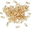 Crimp, gold-plated brass, 3.5x2mm tube with loop, 1.6mm inside diameter. Sold per pkg of 100.