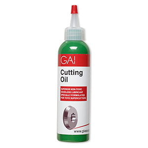 Cutting oil, GAI, non-corrosive synthetic lubricant, for use with pistol-grip glass cutter. Sold per 4-ounce bottle.