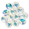 Drop, Swarovski crystal, Crystal Passions®, crystal AB, 12x12mm faceted octagon pendant (6401). Sold per pkg of 12.