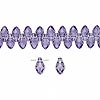 Drop, Swarovski crystal, Crystal Passions®, tanzanite, 7x4mm faceted briolette pendant (6007). Sold per pkg of 48.