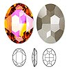 Embellishment, Swarovski crystal, Crystal Passions®, crystal astral pink, foil back, 30x22mm faceted oval fancy stone (4127). Sold individually.