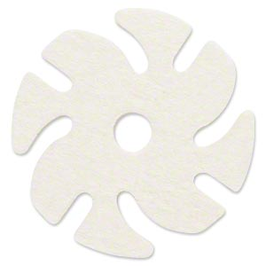 Felt buff, 3M™ Ninja See-Thru™, felt, white, 3-inch replacement buff for Jooltool™. Sold individually.