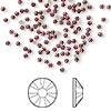 Flat back, Swarovski crystal rhinestone, Crystal Passions®, Siam, foil back, 1.7-1.9mm Xilion rose (2058), SS5. Sold per pkg of 144 (1 gross).