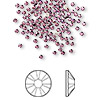 Flat back, Swarovski crystal rhinestone, Crystal Passions®, amethyst, foil back, 1.7-1.9mm Xilion rose (2058), SS5. Sold per pkg of 144 (1 gross).